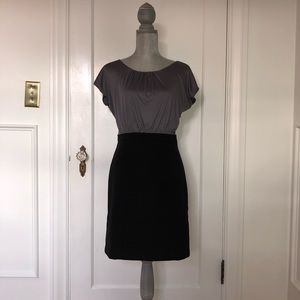 Petite LOFT Dress (Black & Gray)
